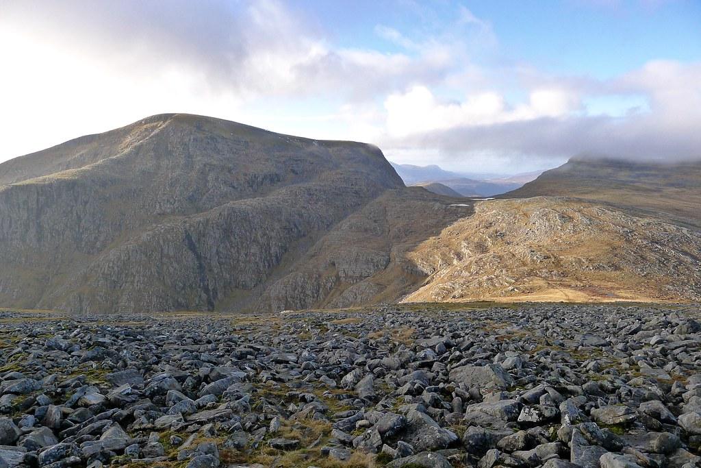 Beinn Dearg and the Bealach an Lochain Uaine
