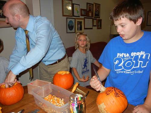 Oct 17 2014 Doller pumpkin carving