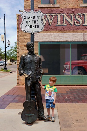 Standing on the Corner Park - Route 66, Winslow, Arizona