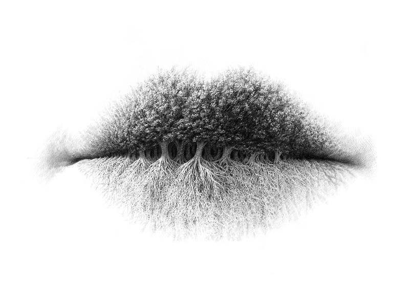 Bộ ảnh nghệ thuật màu chì trên môi của nghệ sĩ Christo Dagorov