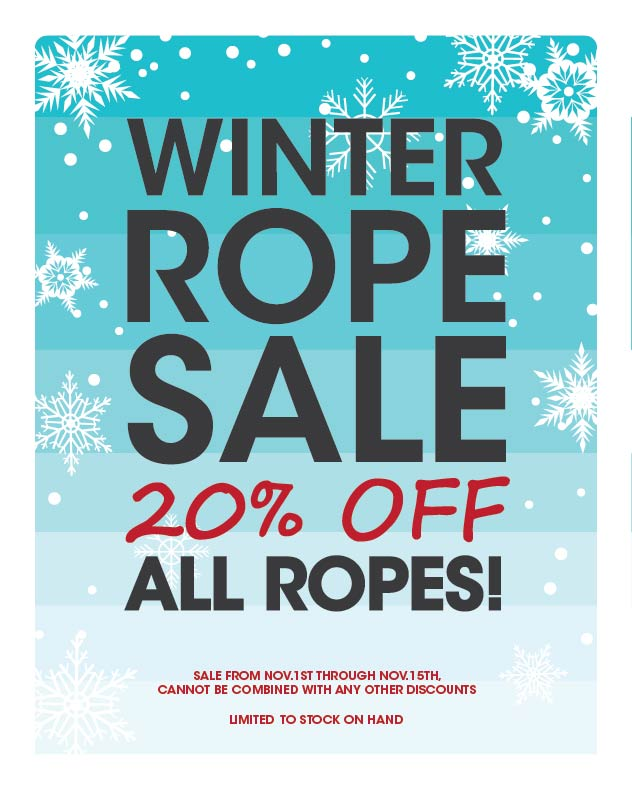 winter ROPE SALE