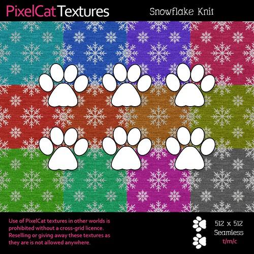 PixelCat Textures - Snowflake Knit