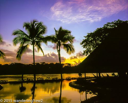 reflection 120 mamiya film sunrise mediumformat costarica swimmingpool 6x7 tortuguero filmscan mamiya7ii tortugalodgeandgardens wildernesstraveltour