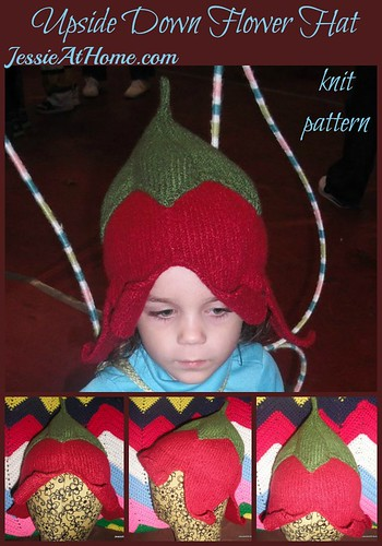Upside Down Flower Hat Knit Pattern by Jessie At Home
