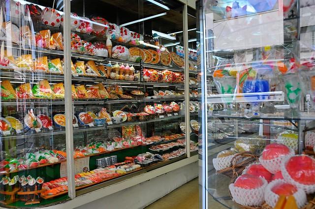 Plastic sample food at Kappabashi