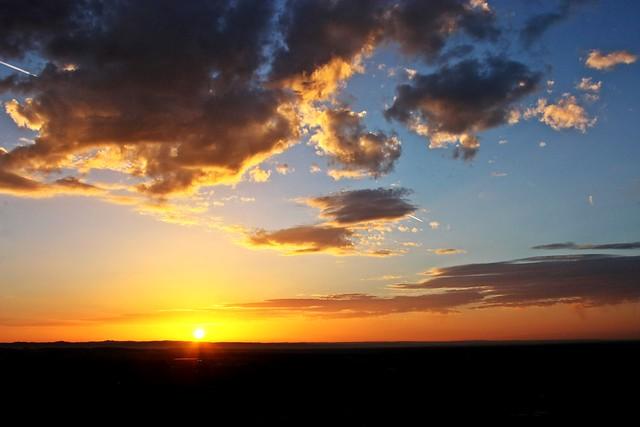 Sonnenuntergang Drachenfels Königswinter