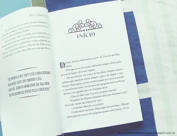 Diagramação, livro, Dhyana e o guardião do portal, resenha, misticismo, existencialismo