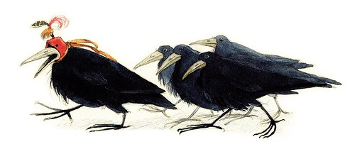 Wizard of Oz, crows | illustrated by Lisbeth Zwerger