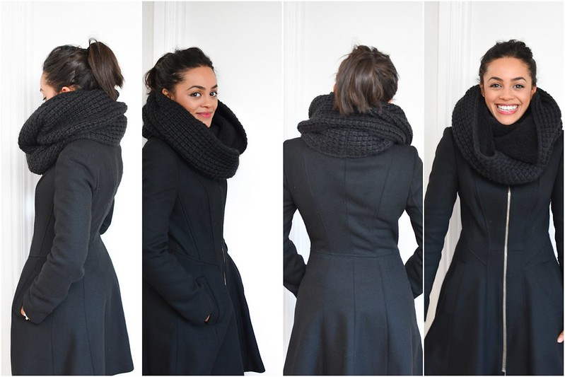 Uniqlo Fleece Snood and Miss Selfridge Coat