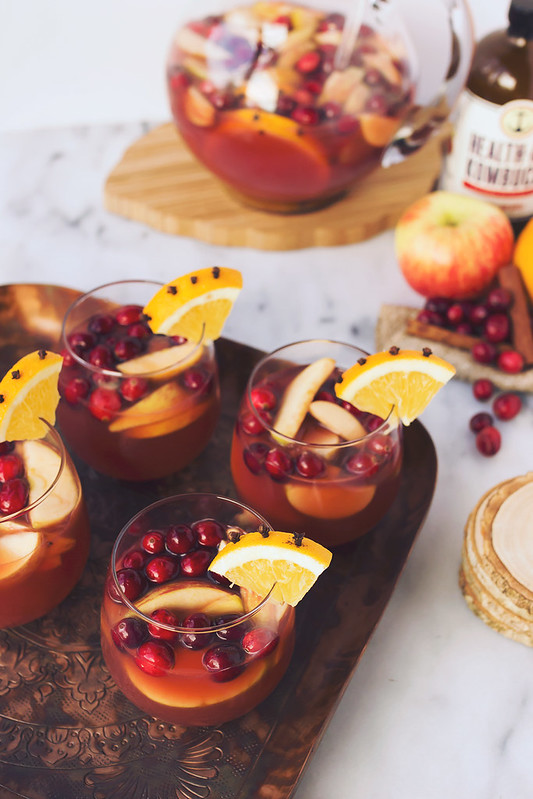 Spiced Apple Cranberry Kombucha Sangria