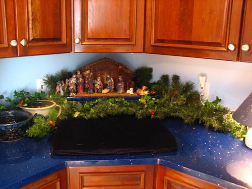 laundry room nativity
