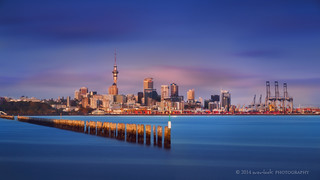 Auckland from Okahu Bay jetty
