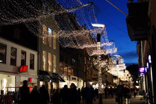 Århus julelys på Strøget