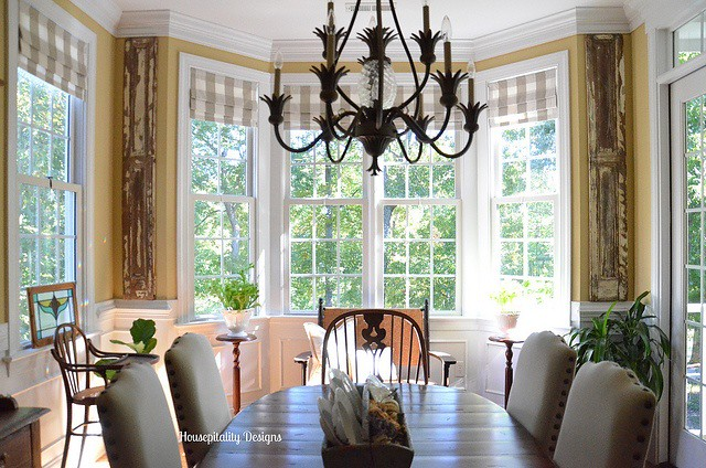 Dining Room Antique Shutters-Housepitality Designs