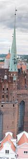 Gdansk Gothic spire vertical panorama