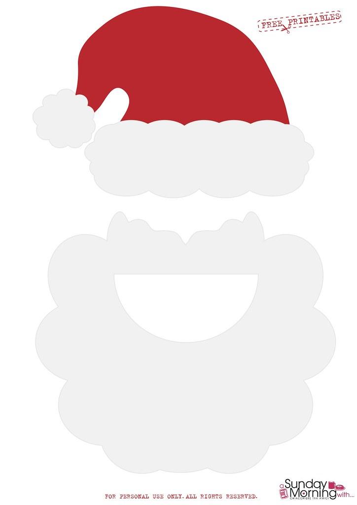 Chirstmas photobooth props Babbo Natale