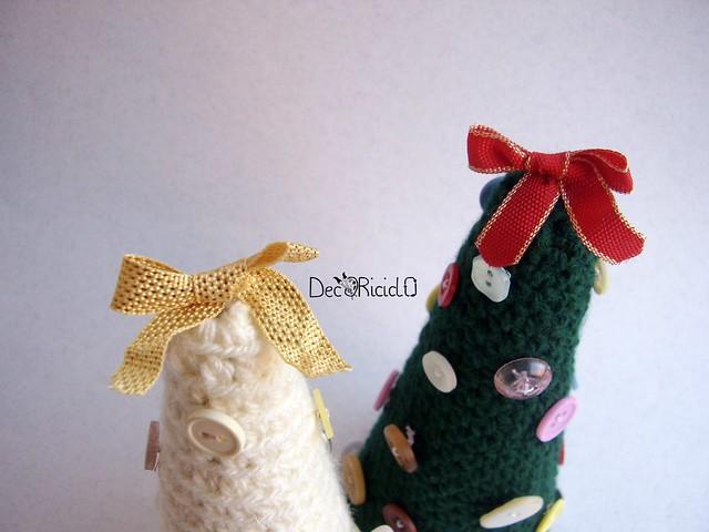 alberelli-contenitori, lana e cartone 3