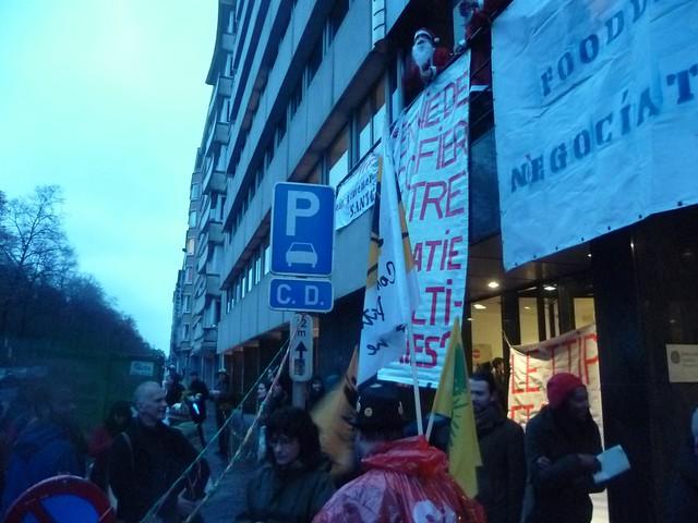 Bruxelles, le 19 décembre 2014 – Manif anti TAFTA (TTIP) P1050122