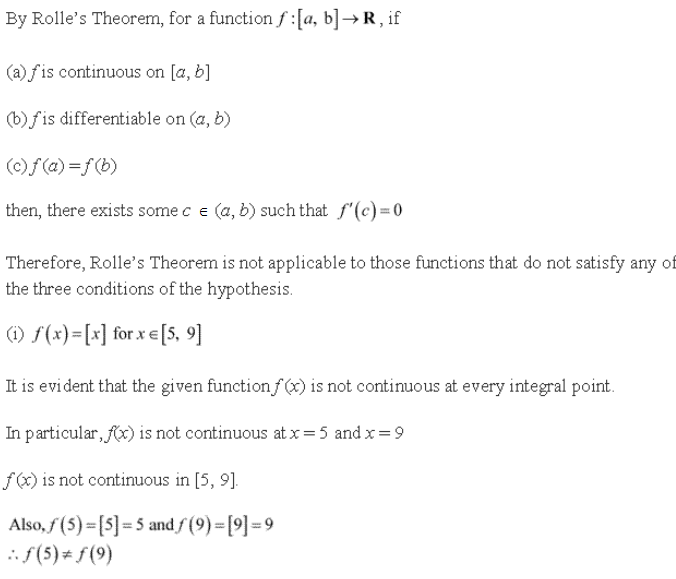 RD Sharma Class 12 Solutions Chapter 15 Mean Value Theorems Ex 15.1 Q10-i