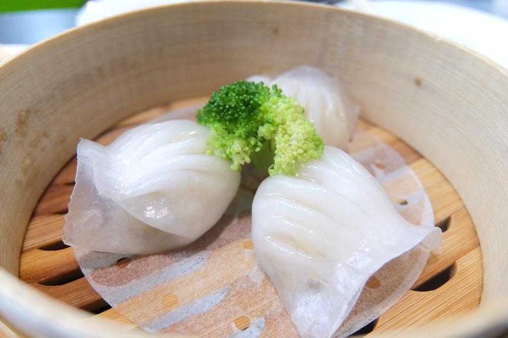 蝦餃,三顆一籠
