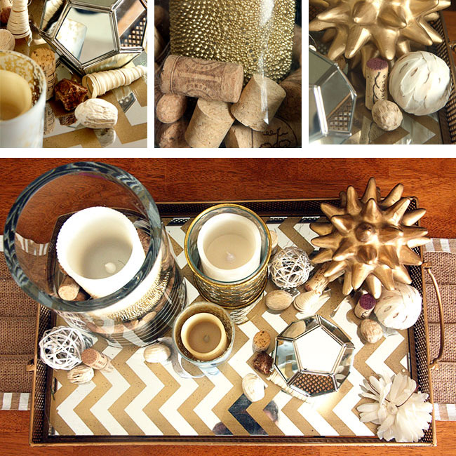 fall photo ideas for instagram - Coffee Table Decor for Everyday with Gold Mirror Tray