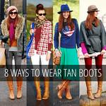 8 Ways to Wear Tan Knee High Boots