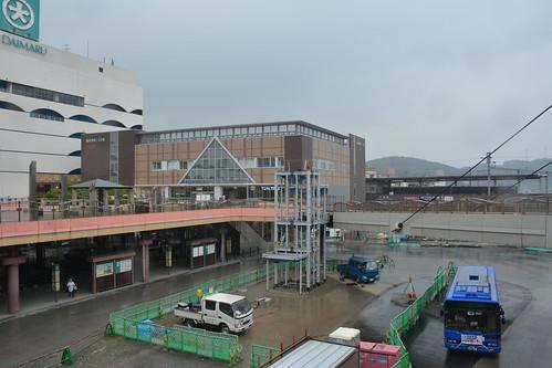 下関駅とバス停