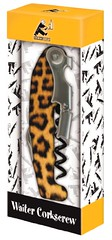 Cork Pops At Your Service Waiters Corkscrew, Colorful Cheetah Design