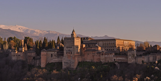 Spain - Andalucia - Granada - view of Alhambra