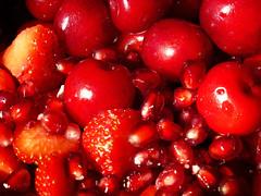 Cherries, Strawberries and Pomegranate