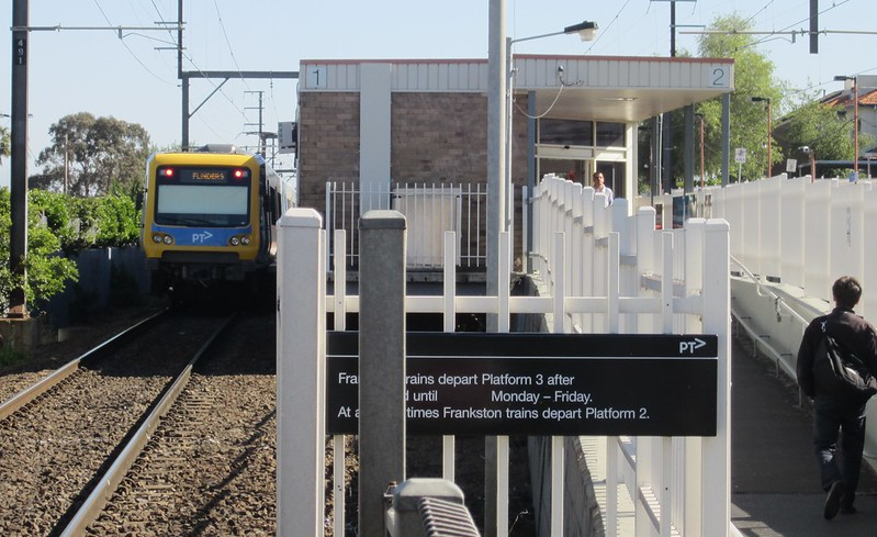 X'trapolis train at Bentleigh station