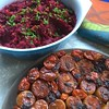 Roasted beet spread and a potato tatin for Thanksgiving. Oh, and there's bread too.