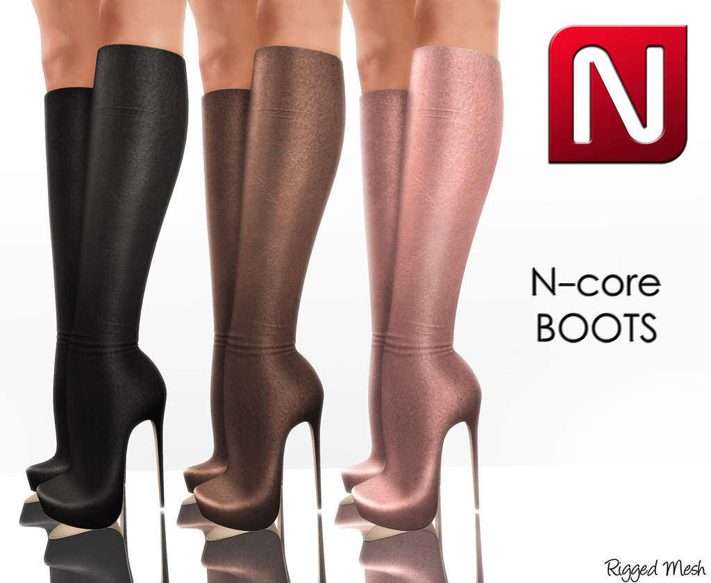 N-core Boots (Rigged Mesh)