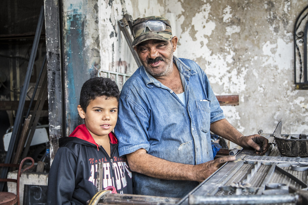 Welder and son