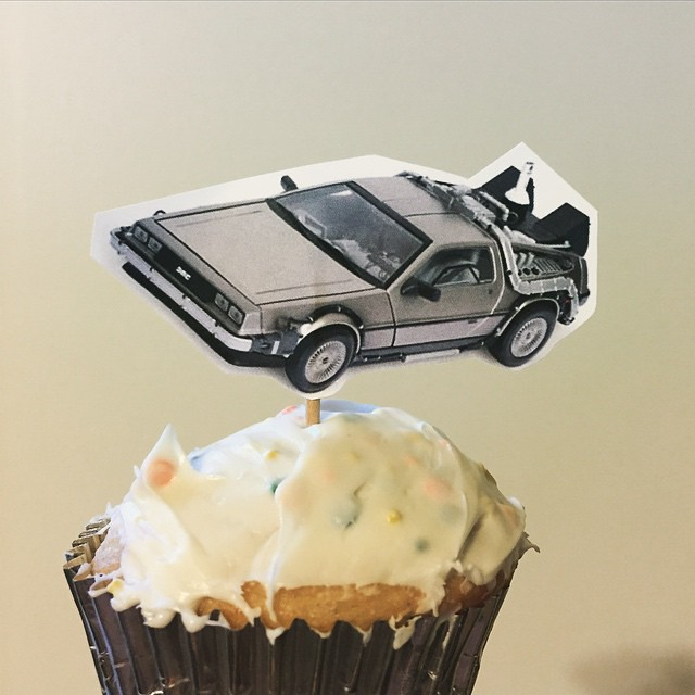 DeLorean cupcakes - #2015
