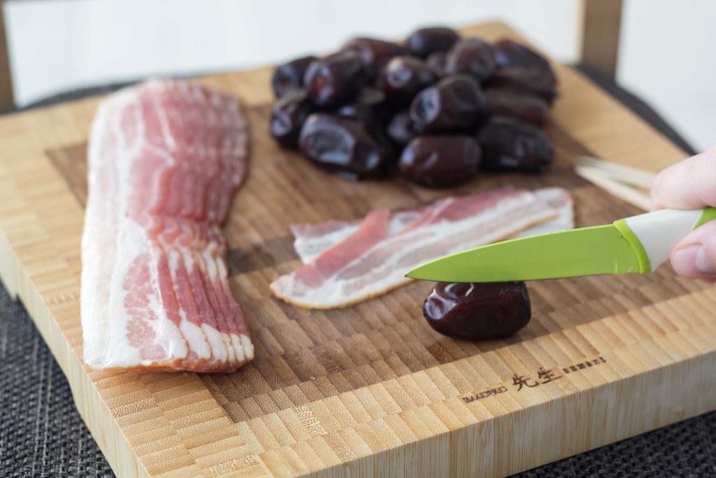 Opskrift på hjemmelavede dadler med bacon