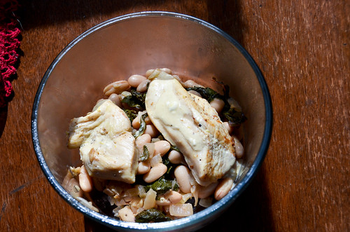 Chicken with White Beans and Kale