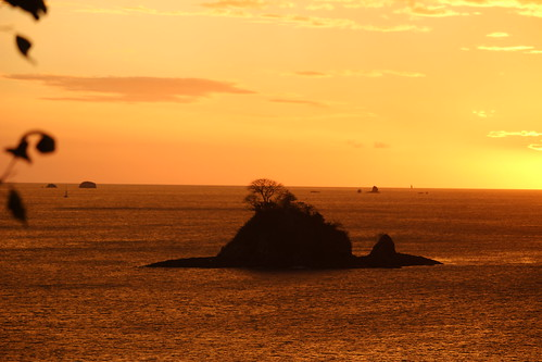 ocean sunset sea sky santacruz sun beach landscape costarica paradise peace view playa guanacaste