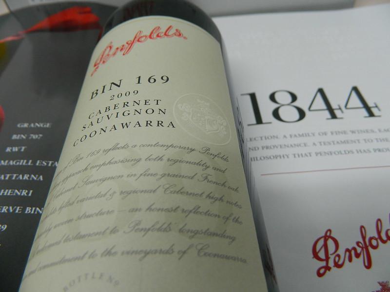 Penfolds 'Bin 169' Special Bin Cabernet Sauvignon (Coonawarra) 2009 Vintage!