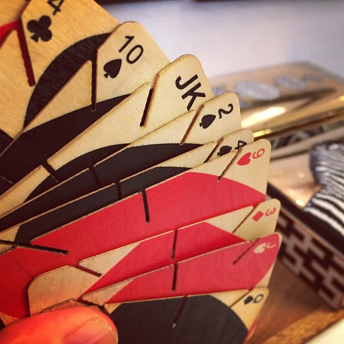 Wooden playing cards, from The Modern Shop.