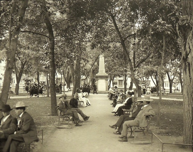 Santa Fe Plaza, circa 1912