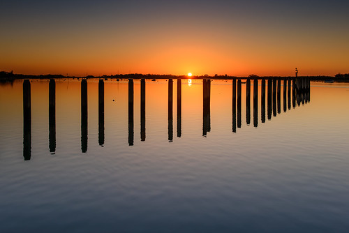 uk blue winter sunset orange cold reflections bosham still nikon december westsussex calm quay filter lee nd posts grad southcoast d800 2014 2470mm roundsun boshamquay sunsetsnapper