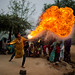 the gypsy fire eater in the Pushkar Camel Fair by anthony pappone photography