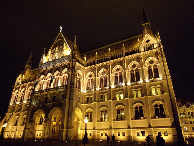 Parliament at night