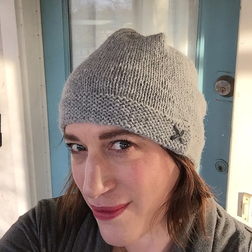 Oh look. I knit a hat. Because I never do that. #rosekimknits