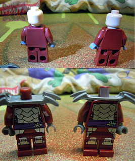"Sheng Yuan TEENAGE MUTANT NINJA TURTLES :: ""SHREDDER"" Bootleg Minifigure Set xii  / ..with LEGO ""SHREDDER"" '13 (( 2014 ))"