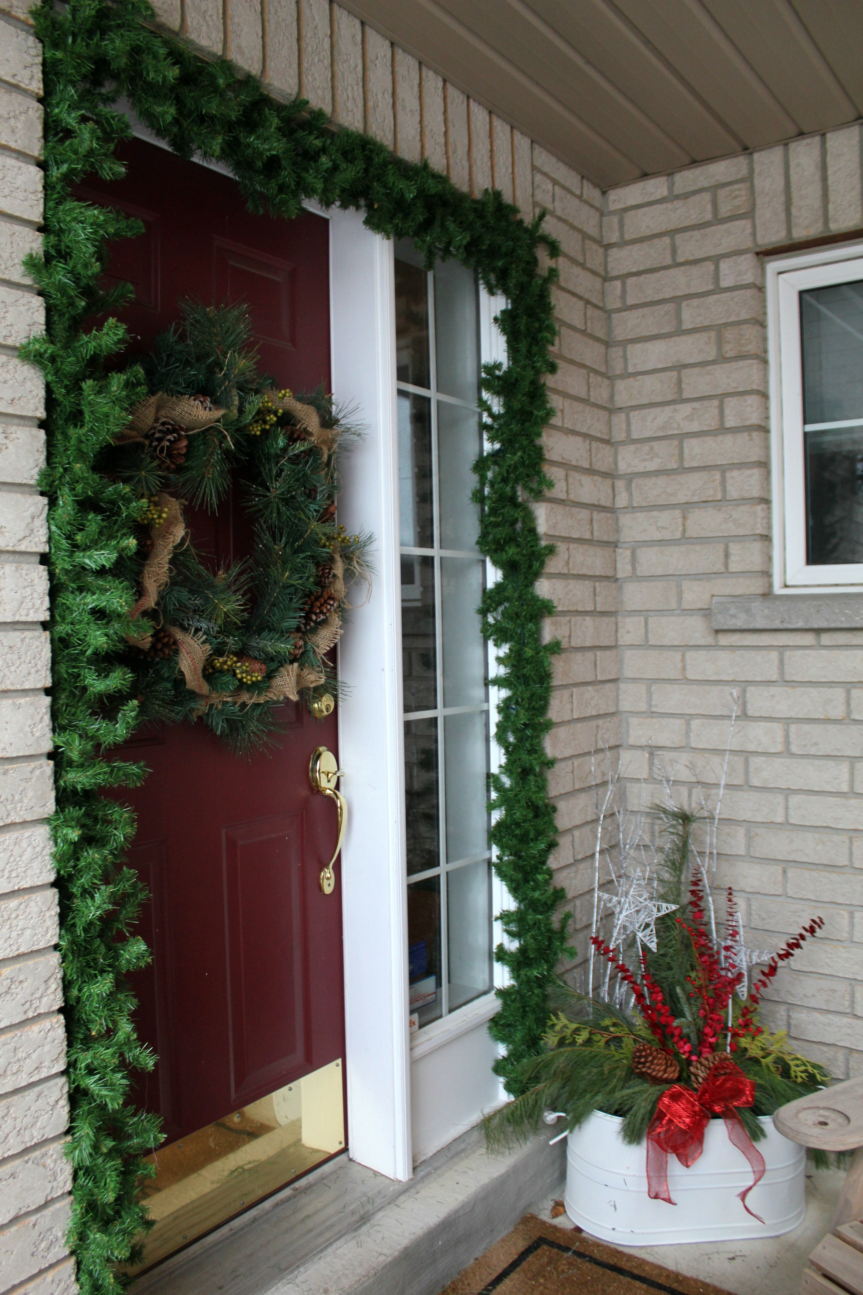 Front porch. Turtles and Tails  Holiday House Tour