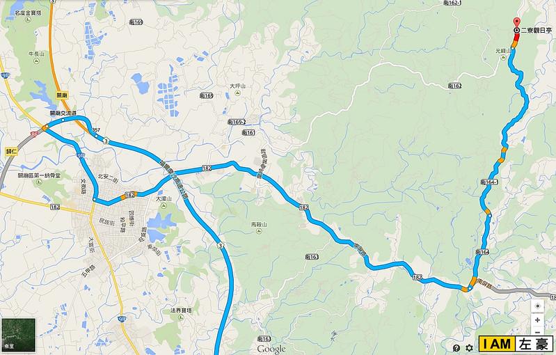 二寮观日亭 地图路线
