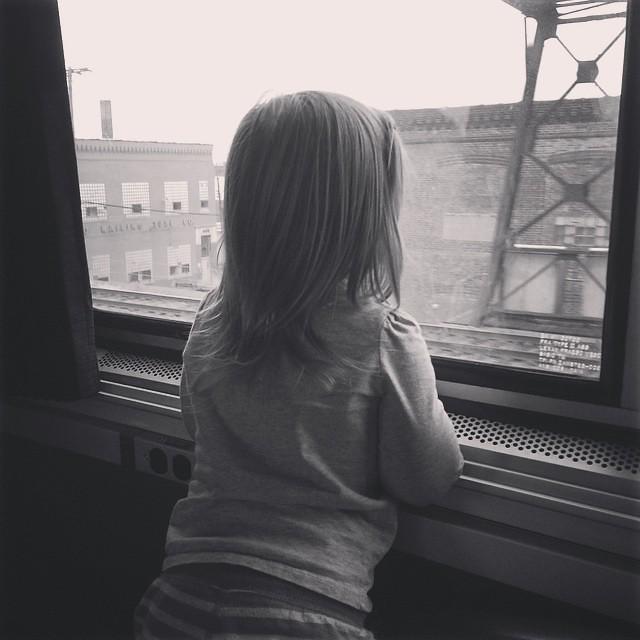 On the train! #winterbreak2014