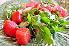 Watermelon and Arugula Salad
